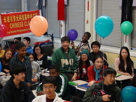 Chinese Class at Long Beach Poly High School 2011-2012