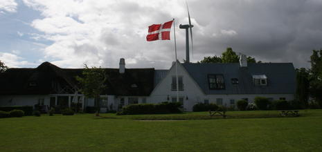 Windmill and Danish Flag