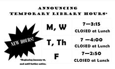Library Hours of Operation
