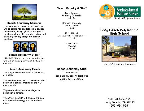 BEACH academy outside brochure 2014