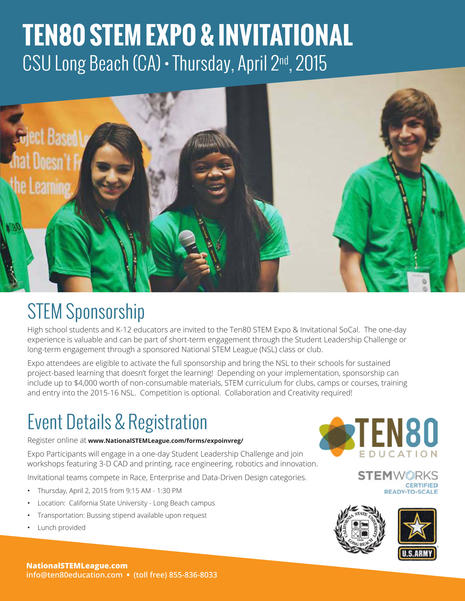 BEACH Academy Teen Engineering Expo Fieldtrip 4-2-15