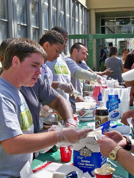 Poly's Male Academy sells Root Beer Float's at the 2011 Intercultural Faire