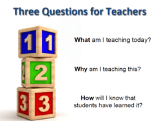 Learning Targets For Teachers