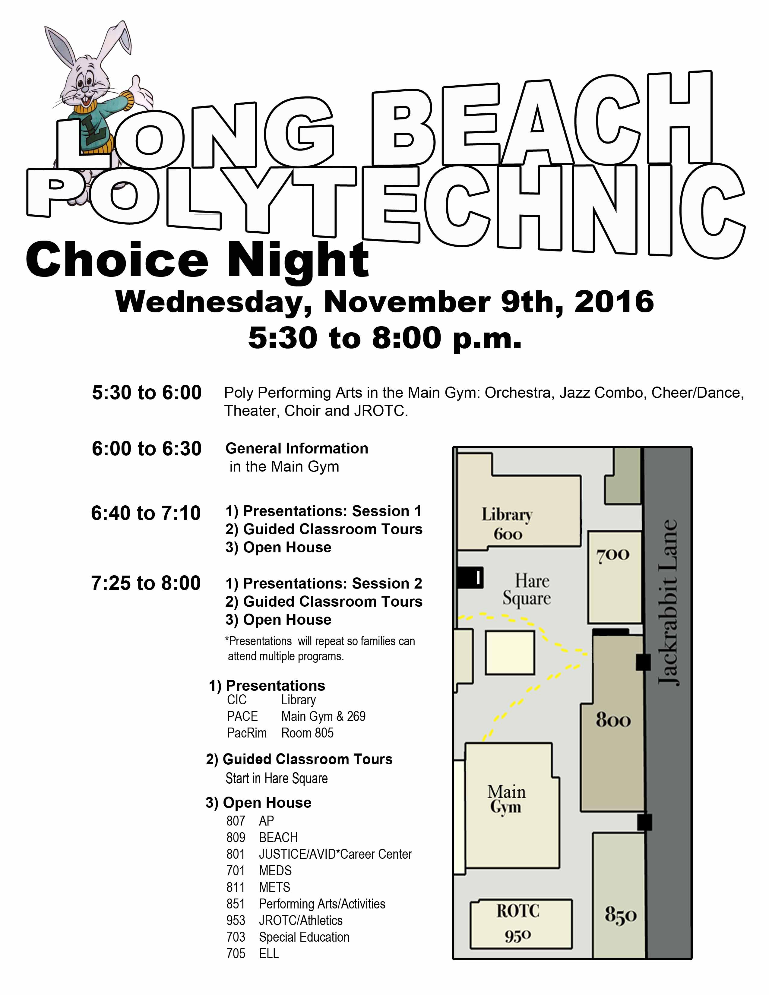 16-17 Poly CHOICE Night Wed 11-9 from 5 30-8
