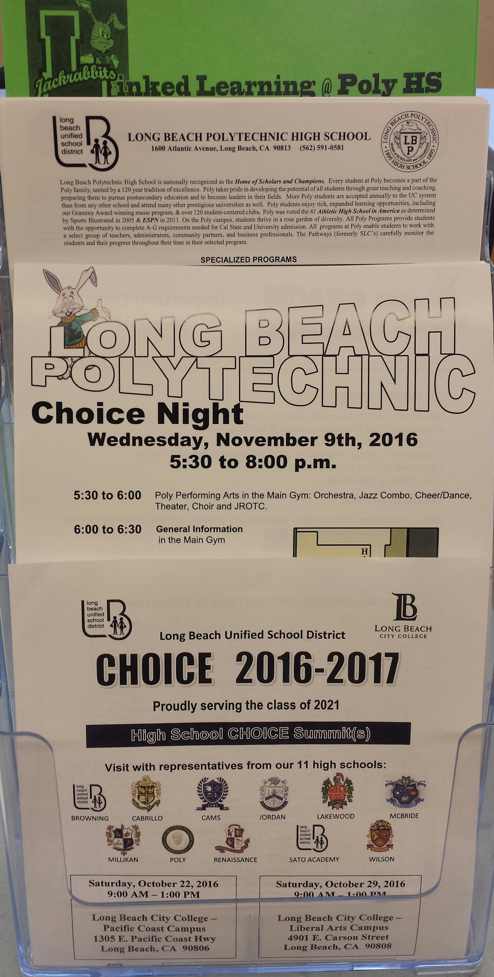 2016-17 District CHOICE Events Info