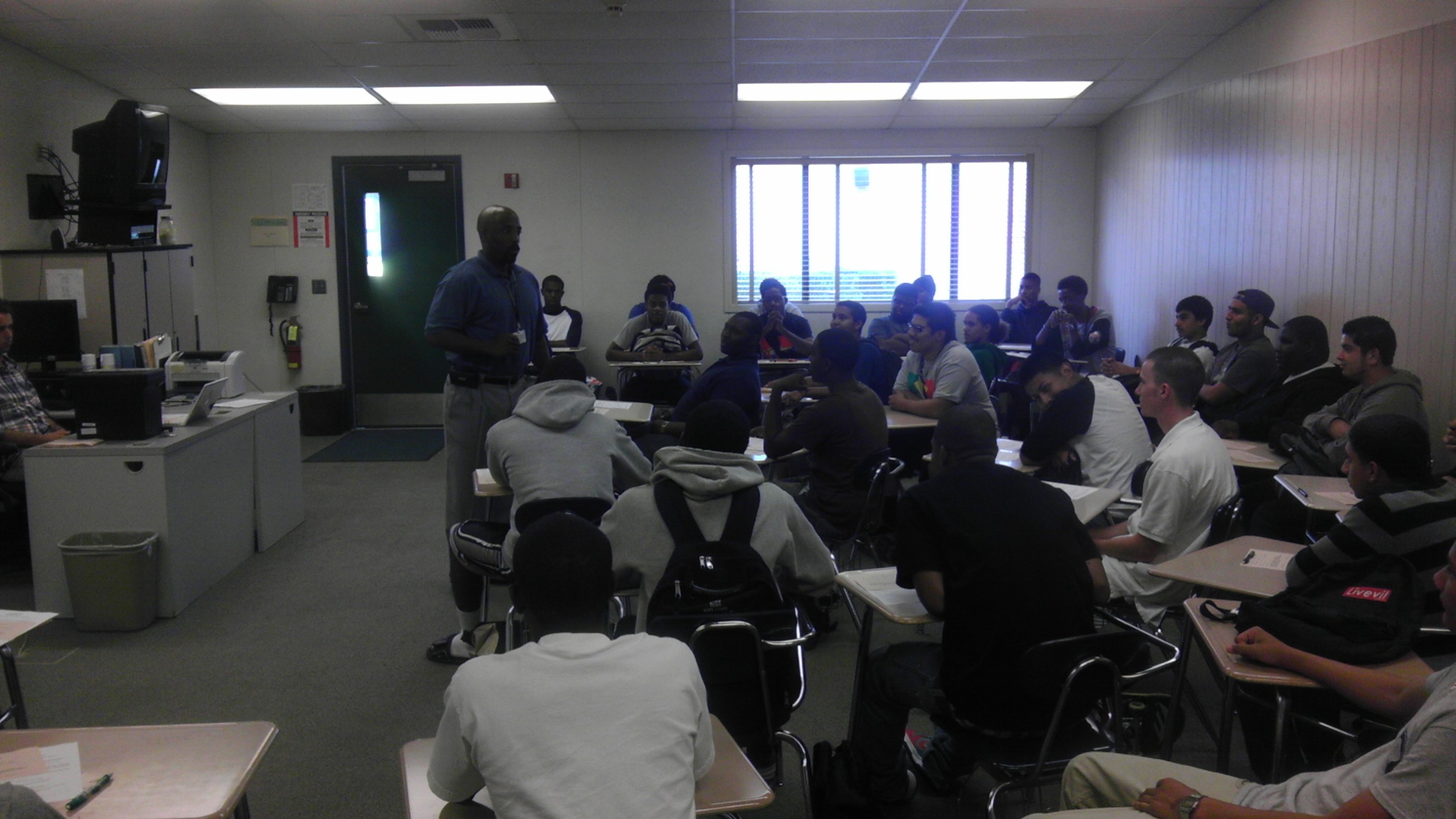 Mr. Parks and Chavez Enlightened Group about Issues in Our Community
